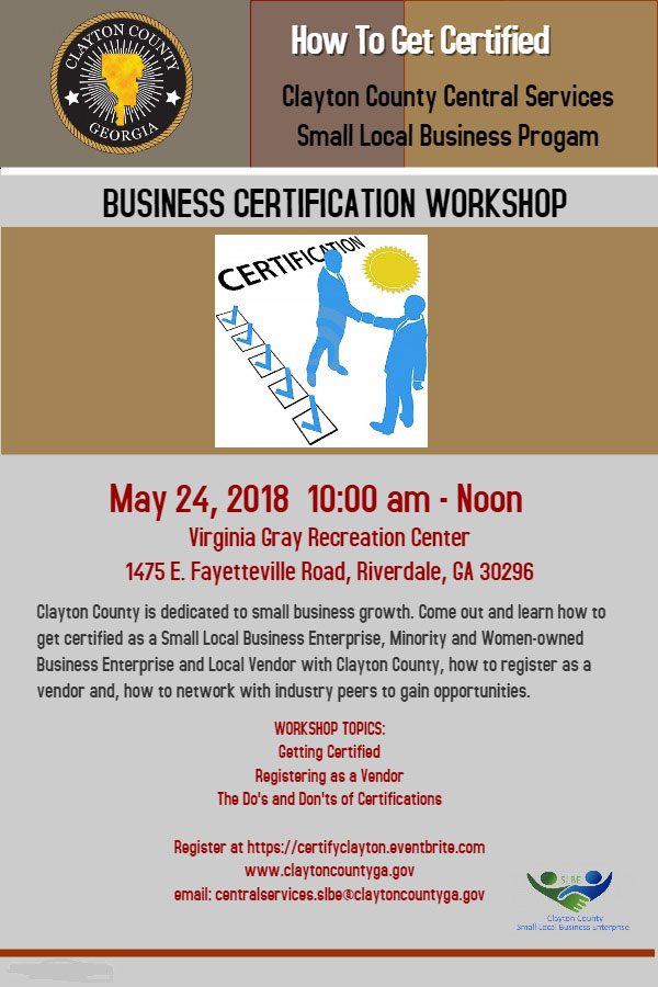 How to Get Business Certified with Clayton County | JV Test ...