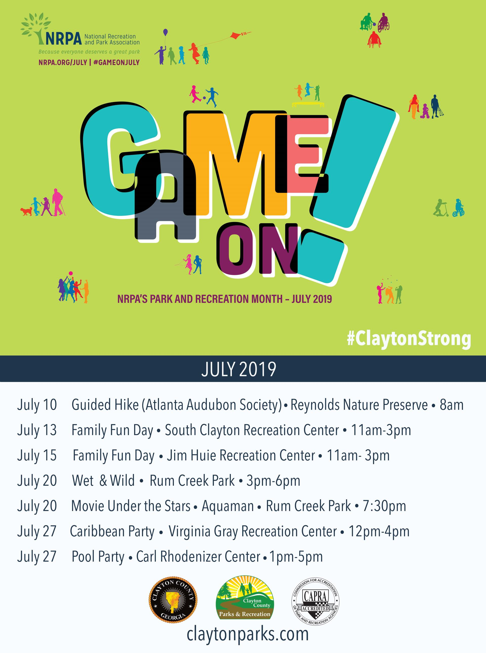 July is Park and Recreation Month: Game On!