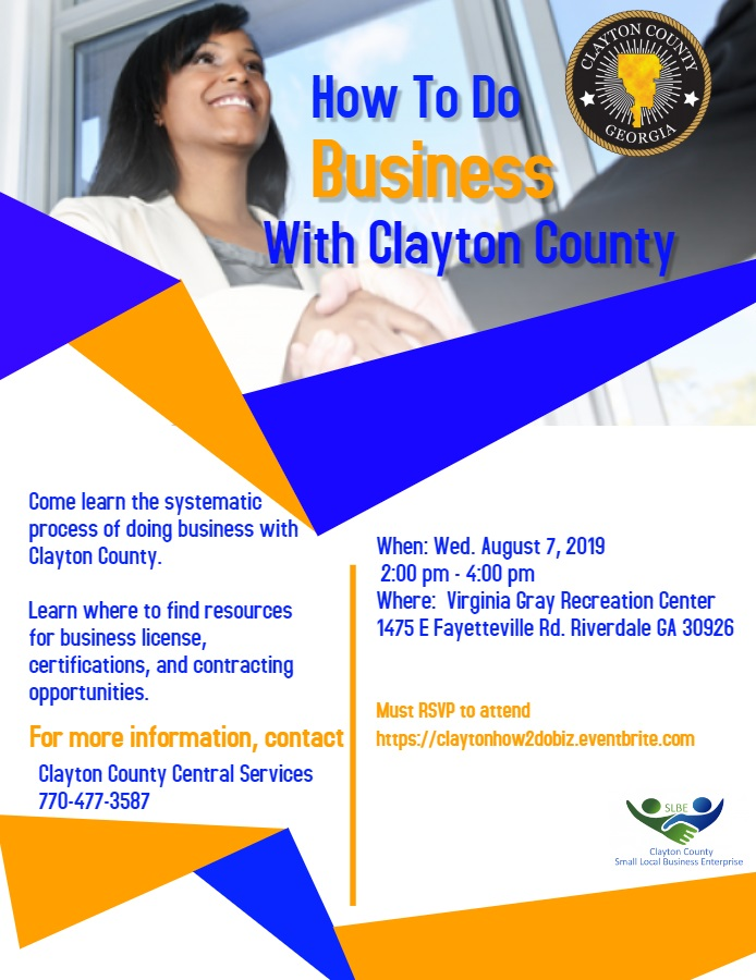 How to do Business with Clayton County Flyer